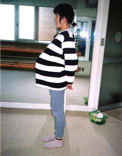 妊婦横向き